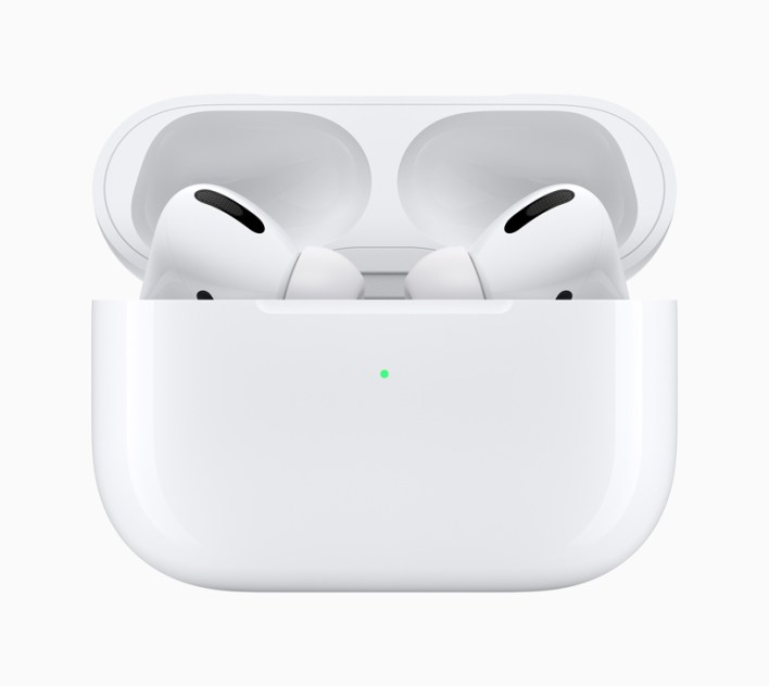 AirPods Pro with charging case.