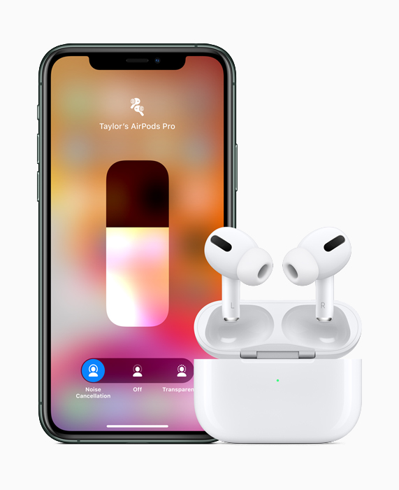 AirPods Pro with iPhone 11 Pro.