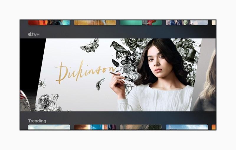 "TV que muestra ""Dickinson"" de Apple TV +"