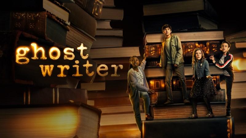 """Pantalla de título de Apple TV + para """"Ghostwriter""""."""