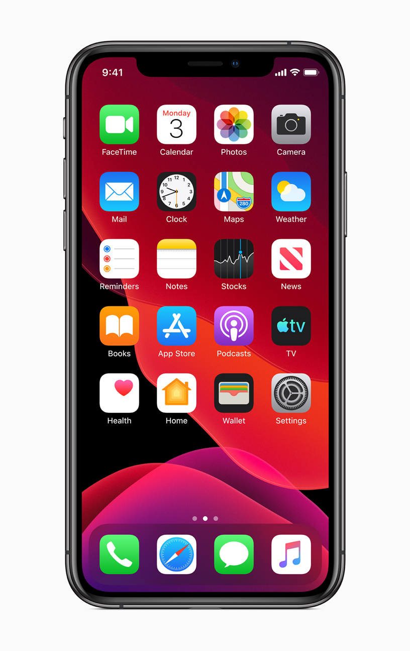 The new Home Screen with iOS 13 on iPhone.