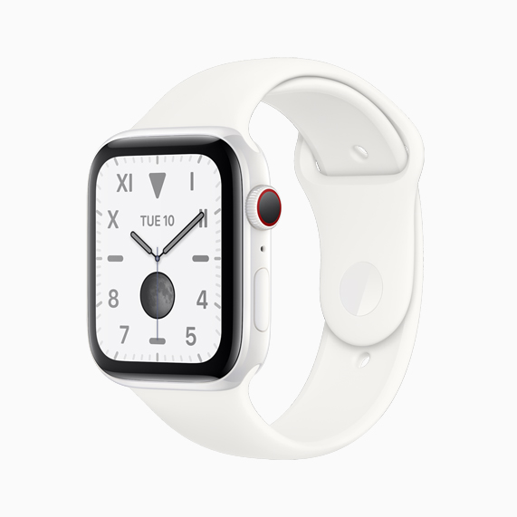 La cerámica blanca Apple Watch Series 5.