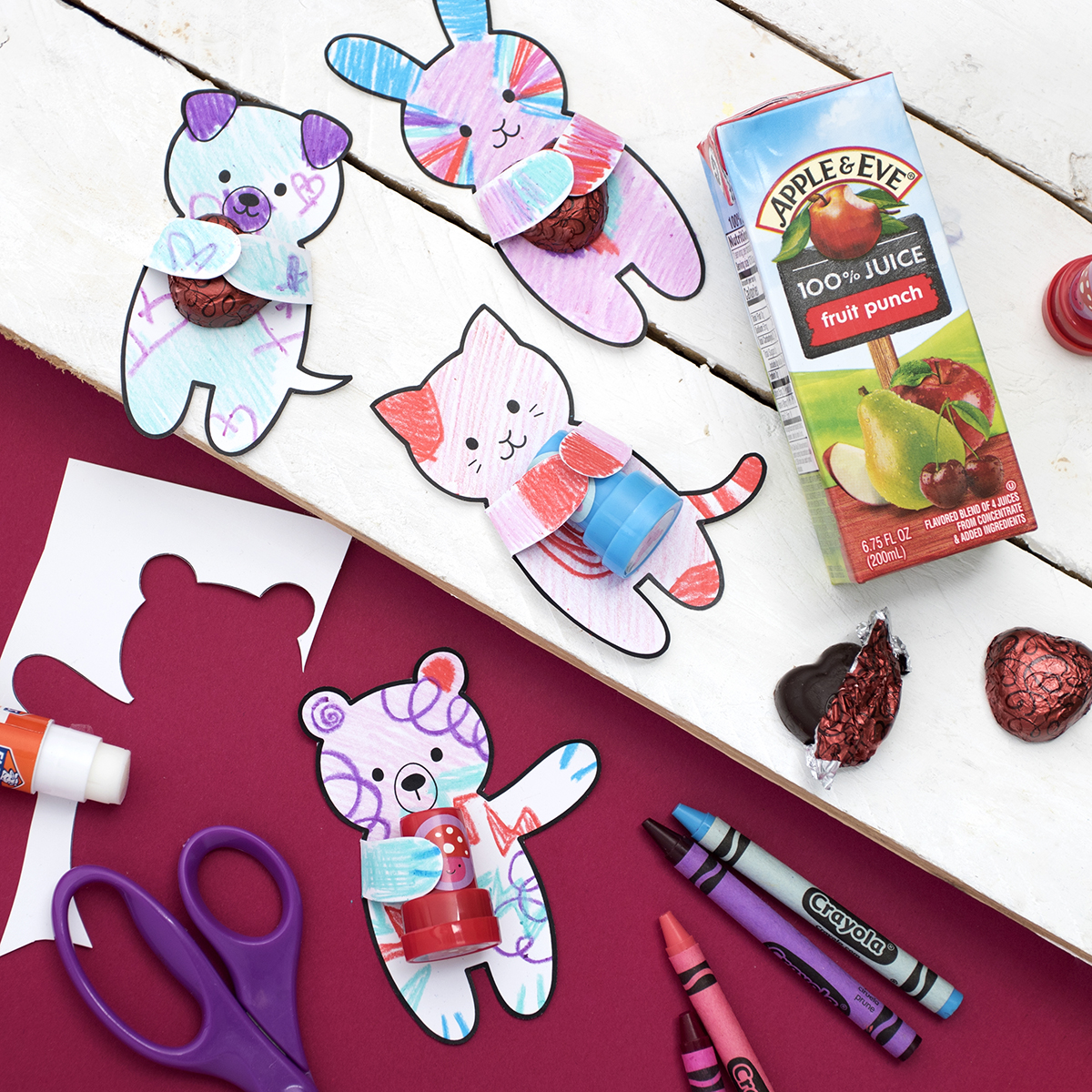 Valentine S Day Hug Cut Outs