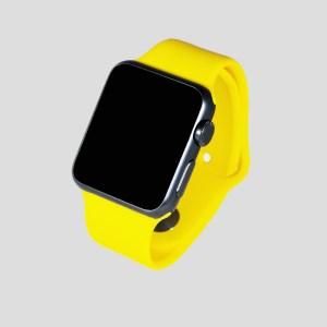 Gult sportarmband för Apple Watch