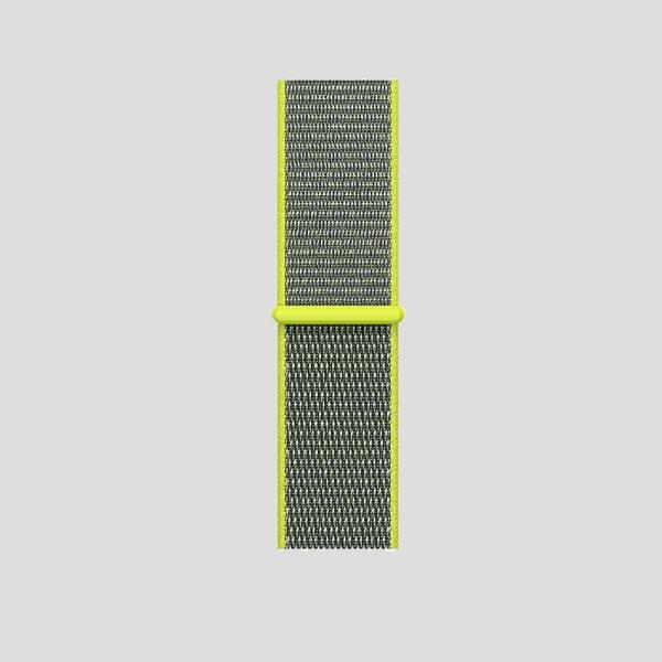 Gulgrå soft sport armband för Apple Watch
