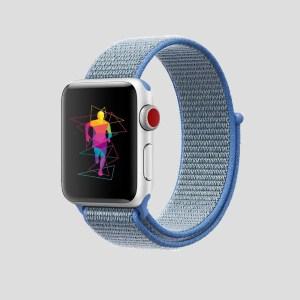 Ljusblå soft sport armband för Apple Watch