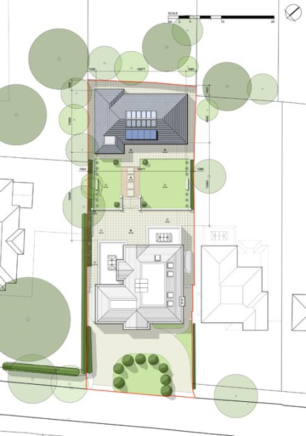 Existing building & proposed pool house