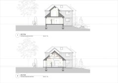 Proposed building section