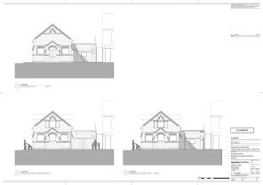 Existing & proposed elevations