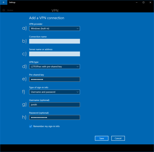 Connecting to an L2TP over IPsec VPN from Windows 10 ...