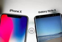 iPhone X mi Galaxy Note 8 mi