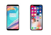 iPhone X ve OnePlus 5T