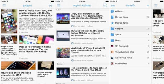 rss readers iphone ipad iOS newsify