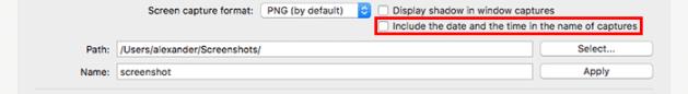 customize macos onyx-general-screenshot-date