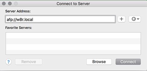 macos server enter server host name