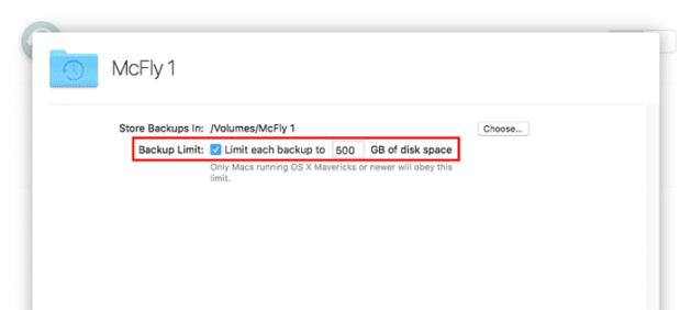 macos server time machine backup limit