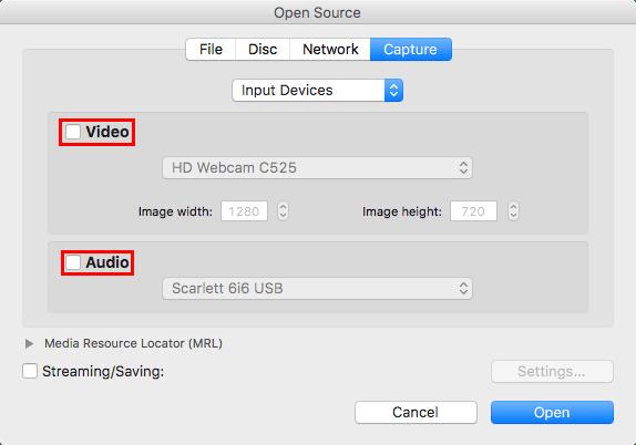 record your mac webcam vlc open capture device menu 1