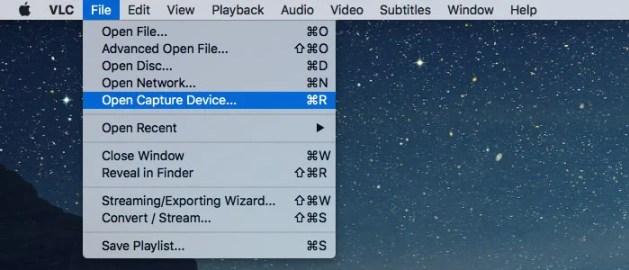 record your mac webcam open capture device