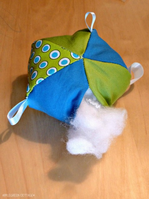 how to add stuffing to the soft ball baby toy