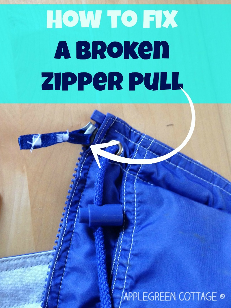 fix broken zipper pull