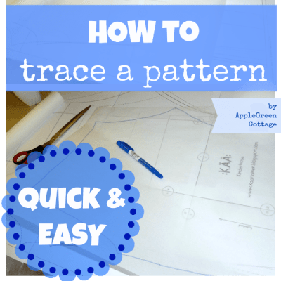 how to trace a sewing pattern - quick&easy
