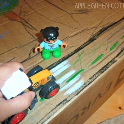 kids activities reused cardboxes