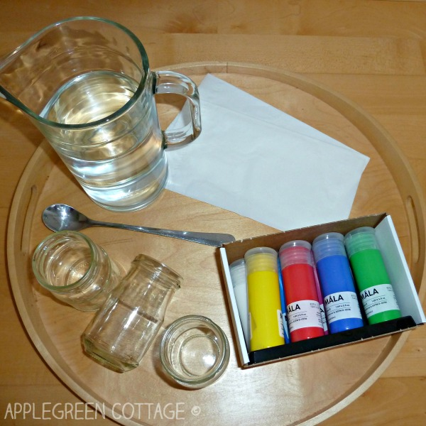 walking water science experiment and capillary action