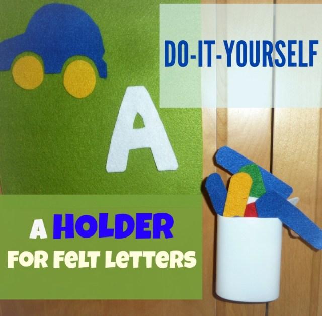 diy holder for felt letters