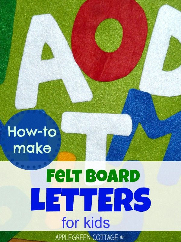 how to make felt letters