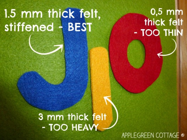 find the right felt for felt letters
