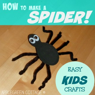 an easy spider crafts