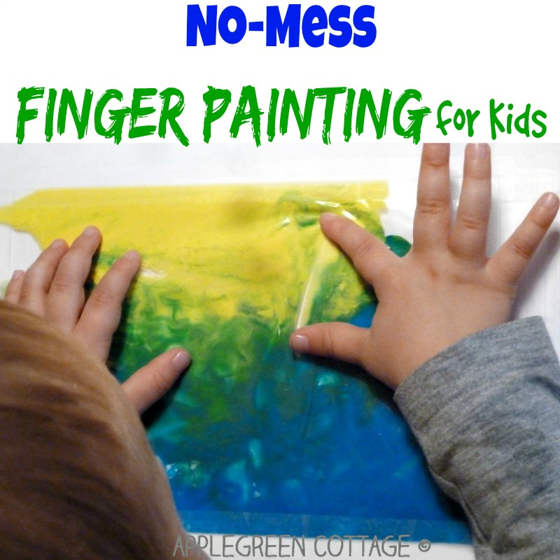 No-Mess Finger Painting for Kids