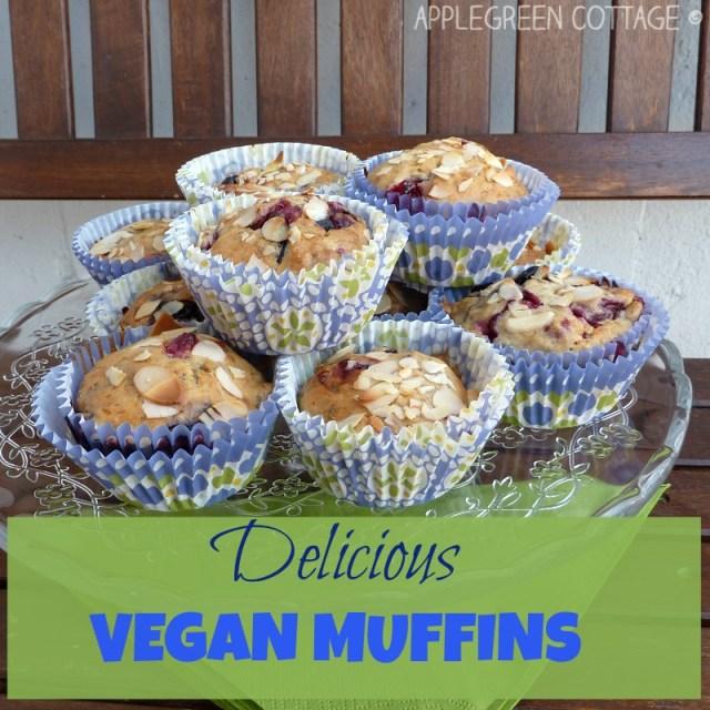 blueberry vegan muffins - easy recipe