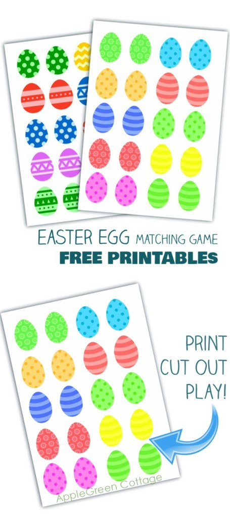 Easter Egg Matching Game Printable  – Free Printables