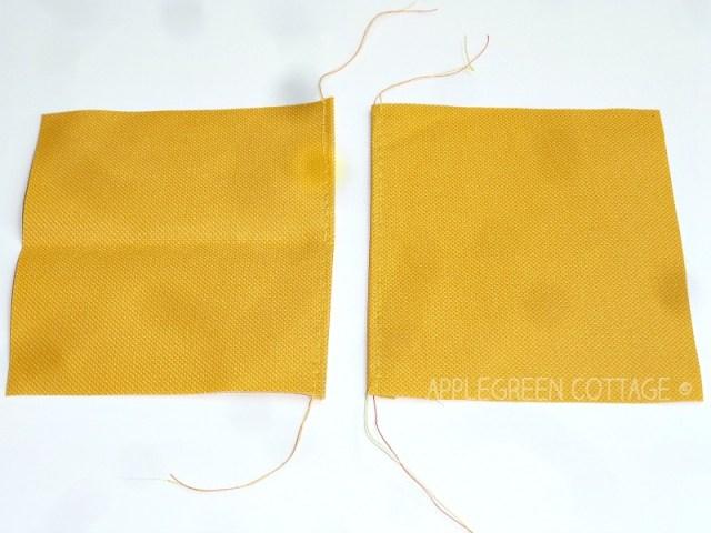 cut fabric for diy mop pad
