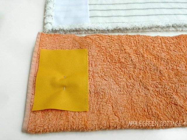towel used for making diy mop pads