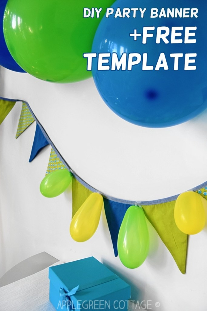 Diy Fabric Banner – And a Free Template