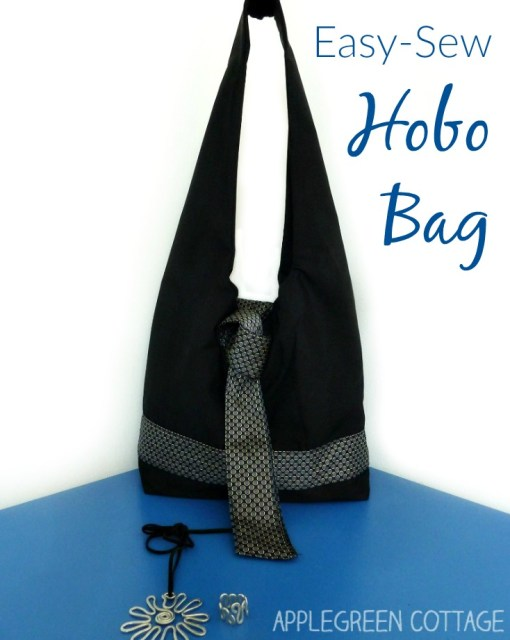 A comfortable DIY hobo bag to make. It's an easy-sew shoulder bag for beginners. And a perfect fit as an everyday carryal bag.