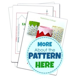 fabric bin sewing pattern