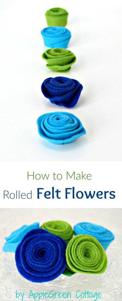 How to Make Rolled Felt Flowers (Easiest WAY!)