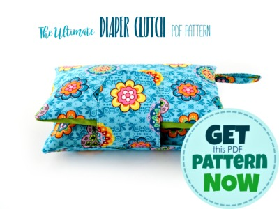 nappy wallet pattern - diaper clutch