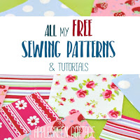 ​ALL ​the free sewing tutorials and patterns ​ever made by AppleGreen Cottage