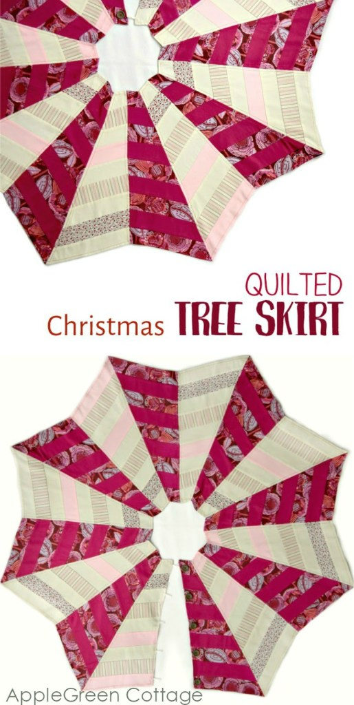 The Quilted Christmas Tree Skirt Pattern