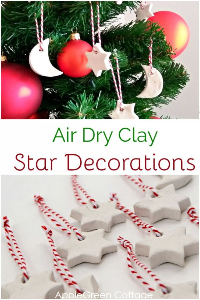 Air Dry Clay Christmas Decorations – Tutorial