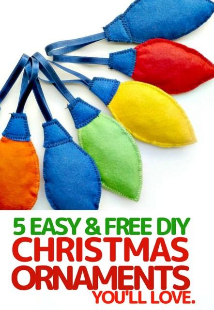 easy christmas tree ornaments