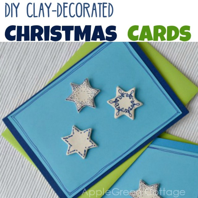 air dry clay and Christmas cards