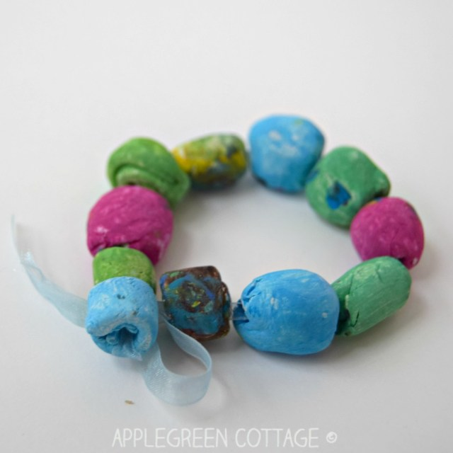 ​Learn how to make a diy bracelet out of air dry clay. A great diy gift kids can make for mother's day, too.