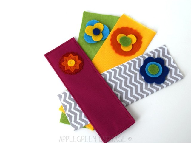 bookmark sewing project