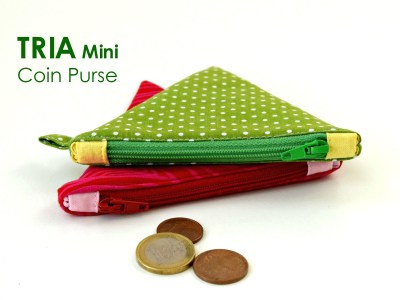 tria mini coin pouch - PDF pattern