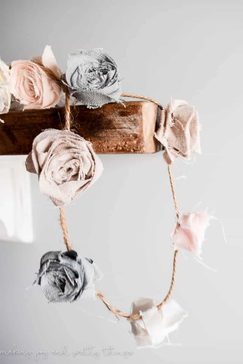 diy fabric floral garland